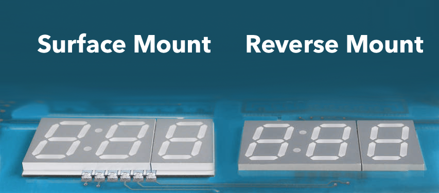 Reverse Mount SMD(SMT) LED Display / Ters Montaj SMD LED Display