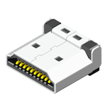 HDMI Konnektör HDMI Male Solder 19Pin