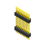 Header & Socket Konnektör Pin Header 1.27mm SQ PIN0.46mm 1 Row H=1.7/2.5mm Stack Straight Type