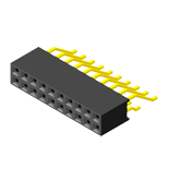 Header & Socket Konnektör Female Header 2.0mm 2 Row H=6.35mm SMT R/A Type