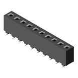 Header & Socket Konnektör Female Header 3.96mm 1 Row H=8.89mm SMT Type