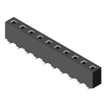 Header & Socket Konnektör Female Header 5.08mm 1 Row H=8.9mm SMT Type